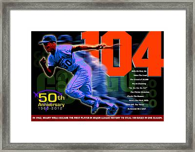 104 Framed Print by Ron Regalado