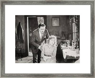 Silent Still: Man & Woman Framed Print by Granger