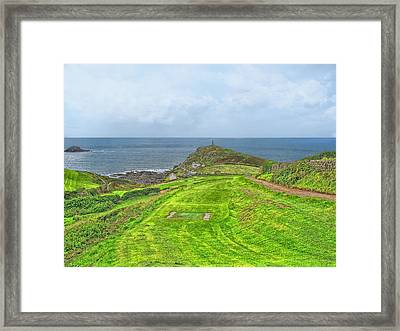10th Tee At Cape Cornwall Golf Course Framed Print