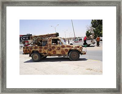 A Free Libyan Army Pickup Truck Framed Print by Andrew Chittock