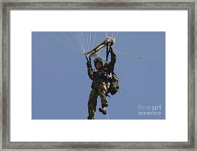 A Member Of The Pathfinder Platoon Framed Print by Andrew Chittock