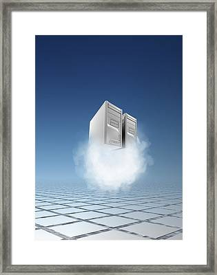 Cloud Computing, Conceptual Artwork Framed Print