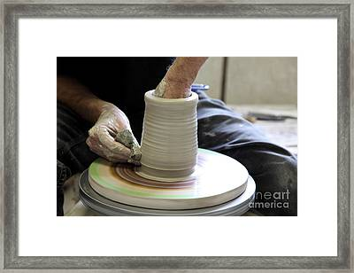 Pottery Wheel, Sequence Framed Print
