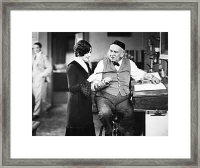 Silent Film Still: Offices Framed Print