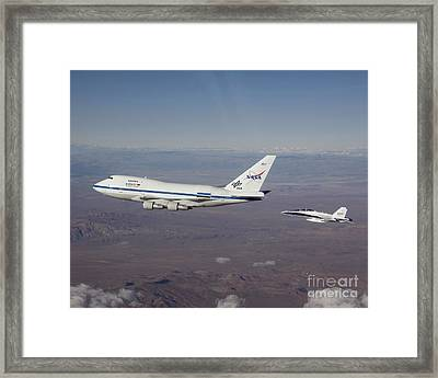 Sofia Flying Observatory Framed Print by NASA/Science Source