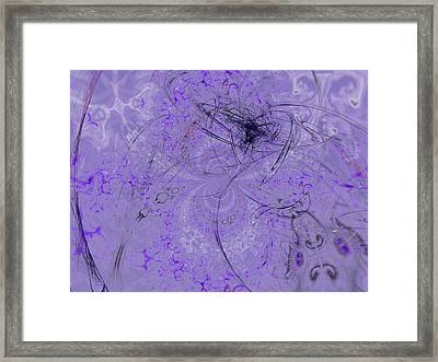1123 Lavender And Grapes Framed Print by Scott Bishop