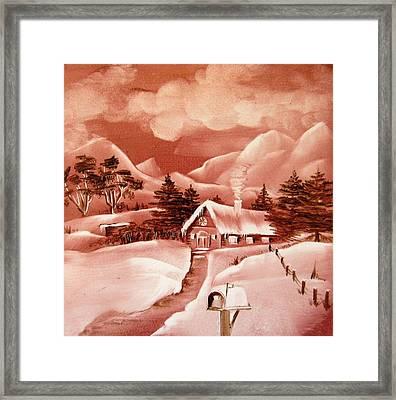 1140b Winter Scene Framed Print by Wilma Manhardt