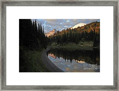 #12-4 Sunrise Mt Rainier Framed Print by Jack Moskovita