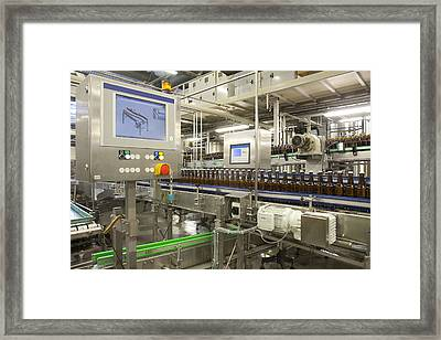 A Brewery And Bottling Plant In Estonia Framed Print