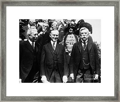 Calvin Coolidge (1872-1933) Framed Print by Granger