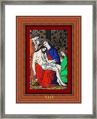 Drumul Crucii - Stations Of The Cross  Framed Print by Buclea Cristian Petru