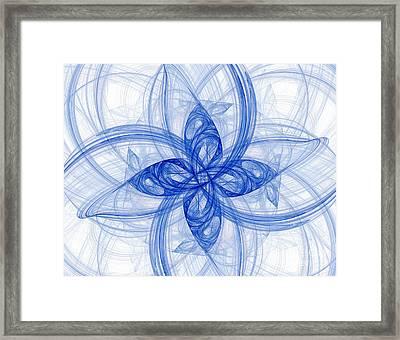 Fractal Image Framed Print by Ted Kinsman