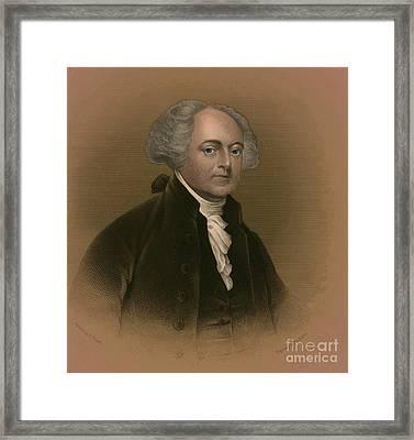 John Adams, 2nd American President Framed Print by Photo Researchers