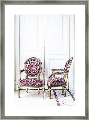 Luxury Antique Chair. Framed Print by Chavalit Kamolthamanon