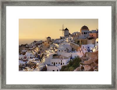 Oia - Santorini Framed Print