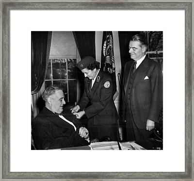 President Franklin D. Roosevelt Left Framed Print