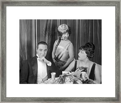 Silent Film: Restaurants Framed Print by Granger