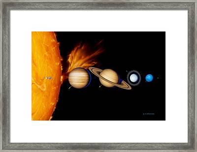 Sun And Its Planets Framed Print by Detlev Van Ravenswaay