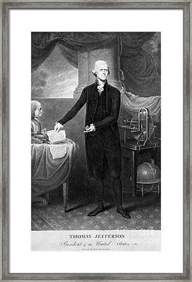 Thomas Jefferson (1743-1826) Framed Print by Granger