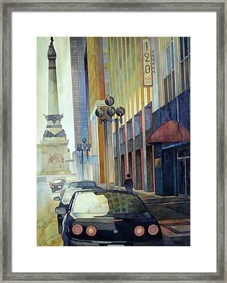 120 E Market Framed Print by Ryan Petrow