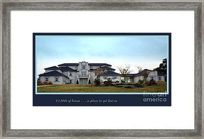 12000 Sf House Framed Print by Renee Trenholm