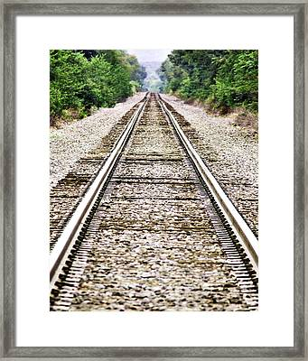 1207-9507 Train Tracks At Knoxville Framed Print by Randy Forrester
