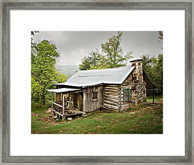 1209-1144 Historic Villines Homestead Framed Print by Randy Forrester