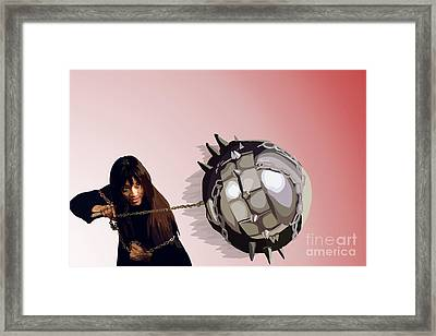 123. You Can Beg Better Than That Framed Print by Tam Hazlewood