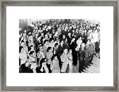 126 Japanese Nationals Take Their Oath Framed Print