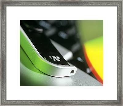 128mb Usb Memory Stick Framed Print by Steve Horrell