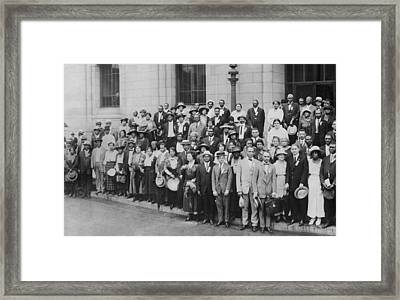 12th Annual Conference Of The Naacp Framed Print