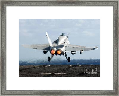 An Fa-18c Hornet Launches Framed Print by Stocktrek Images