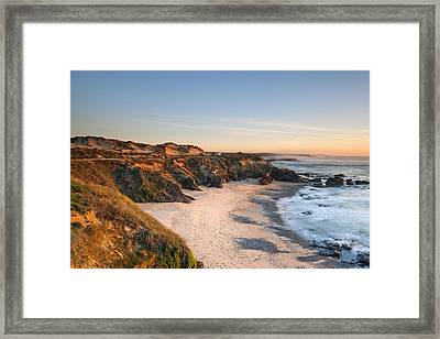 Beach In Milfontes Framed Print by Andre Goncalves
