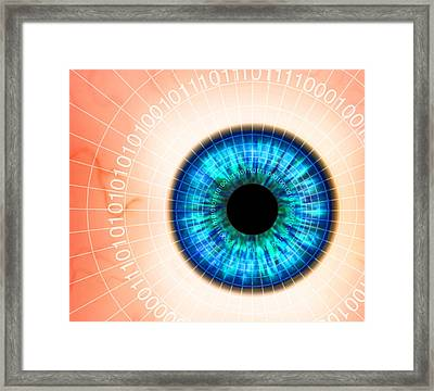 Biometric Eye Scan Framed Print by Pasieka