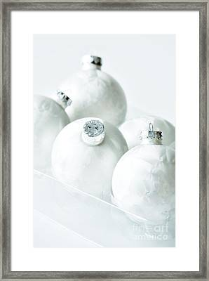 Christmas Ornaments Framed Print by HD Connelly