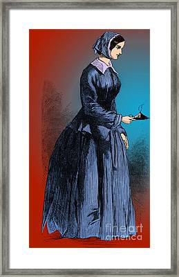 Florence Nightingale, English Nurse Framed Print by Science Source