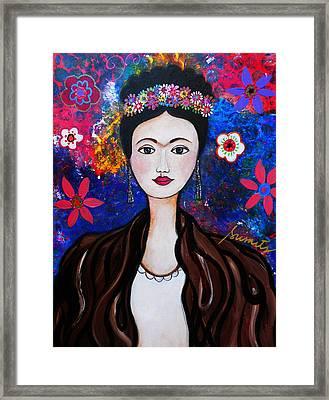 Frida Kahlo Framed Print by Pristine Cartera Turkus