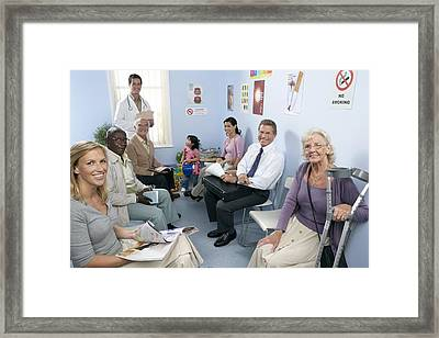 General Practice Waiting Room Framed Print by Adam Gault