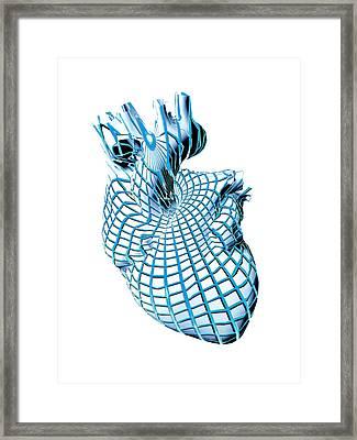 Human Heart, Artwork Framed Print by Laguna Design
