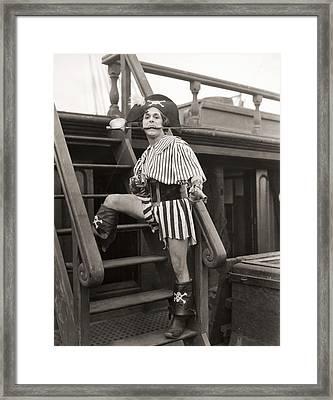 Silent Film Still: Pirates Framed Print
