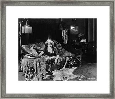 Silent Film Still: Smoking Framed Print by Granger