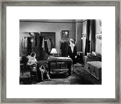 Silent Film Still: Women Framed Print by Granger