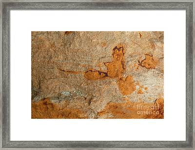 Natures Rock Art Framed Print by Jack R Brock
