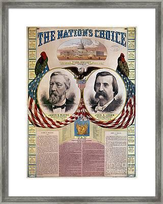 Presidential Campaign, 1884 Framed Print by Granger