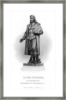 Roger Williams (1603-1683) Framed Print by Granger