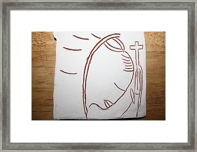 Sign - Tile Framed Print by Gloria Ssali