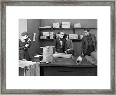 Silent Film Still: Offices Framed Print by Granger