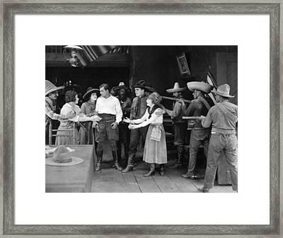 Silent Film Still: Western Framed Print by Granger