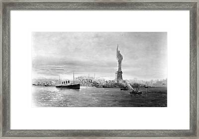 Statue Of Liberty Framed Print by Granger