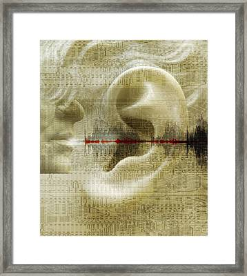 Voice Recognition Framed Print by Mehau Kulyk